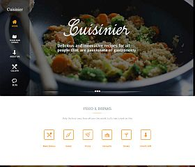 Cuisinier WordPress Theme by TeslaThemes