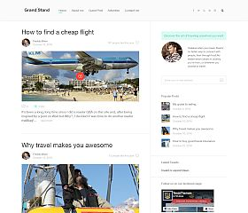 Grandstand WordPress Theme by TeslaThemes