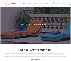 Riverside Resort WordPress Theme by TeslaThemes