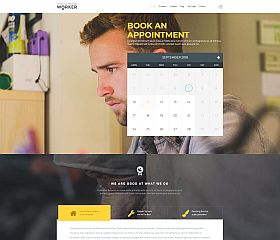 Worker WordPress Theme by TeslaThemes