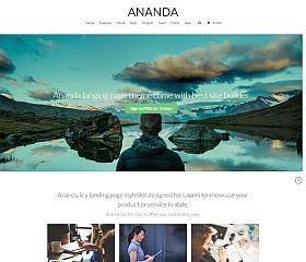 Ananda WordPress Theme via ThemeForest