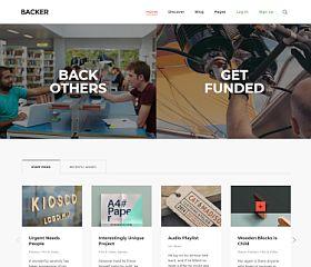 Backer WordPress Theme via ThemeForest