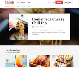 Bacon WordPress Theme via ThemeForest