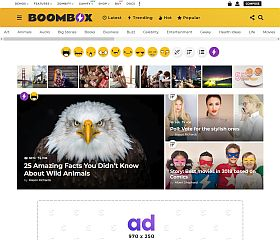 BoomBox WordPress Theme via ThemeForest