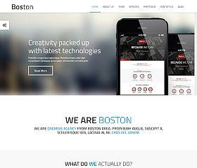 Boston WordPress Theme via ThemeForest