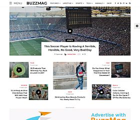 BuzzMag WordPress Theme via ThemeForest