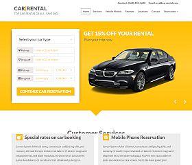 Car Rental Landing Page WordPress Theme via ThemeForest