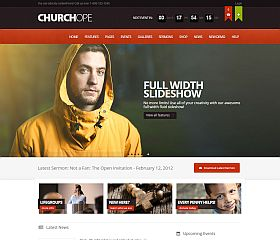 ChurcHope WordPress Theme via ThemeForest
