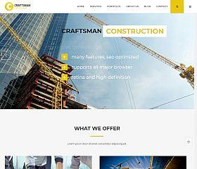 Craftsman Construction WordPress Theme via ThemeForest