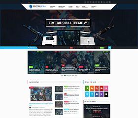 Crystal Skull WordPress Theme via ThemeForest
