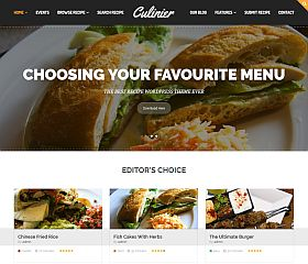 Culinier WordPress Theme via ThemeForest