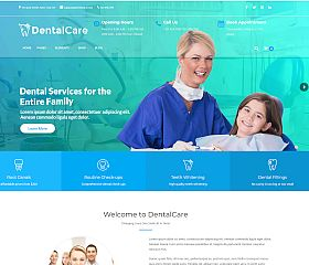 Dental Care WordPress Theme via ThemeForest