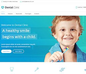 Dental Clinic WordPress Theme via ThemeForest
