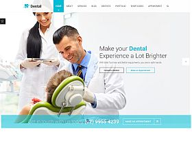 Dental Health WordPress Theme via ThemeForest