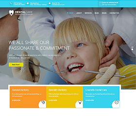 Dentalcare WordPress Theme via ThemeForest