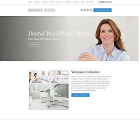 Dentist WordPress Theme via ThemeForest