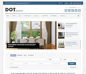 Dot Real Estate Website Template via ThemeForest