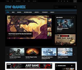 DW Gamez WordPress Theme via ThemeForest