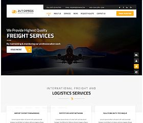 Express Logistics WordPress Theme via ThemeForest
