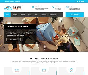Express Movers WordPress Theme via ThemeForest