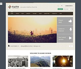 Faith WordPress Theme via ThemeForest
