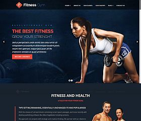 Fitness WordPress Theme via ThemeForest