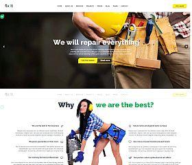Fixit Construction WordPress Theme via ThemeForest