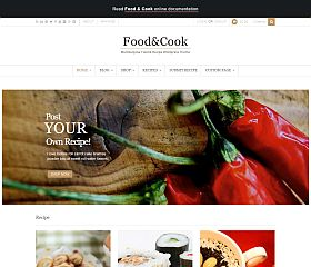 Food & Cook WordPress Theme via ThemeForest