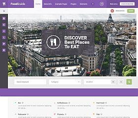 Food Guide WordPress Theme via ThemeForest