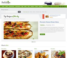 Food Recipes WordPress Theme via ThemeForest