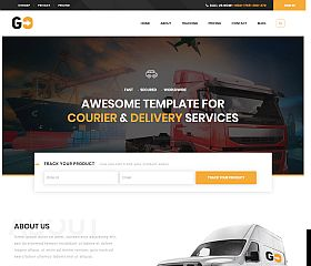 GO Courier WordPress Theme via ThemeForest