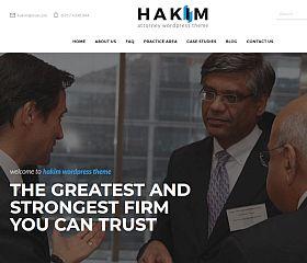 Hakim WordPress Theme via ThemeForest