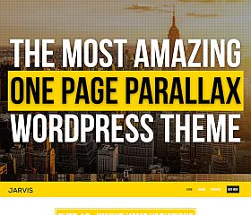 Jarvis WordPress Theme via ThemeForest