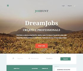 JobHunt WordPress Theme via ThemeForest