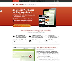 JustLanded WordPress Theme via ThemeForest