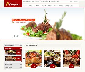 Kitchen Cuisine WordPress Theme via ThemeForest