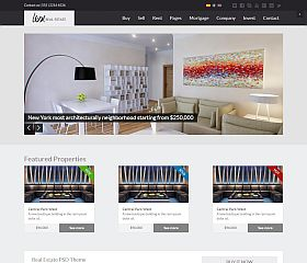 Lux Website Template via ThemeForest