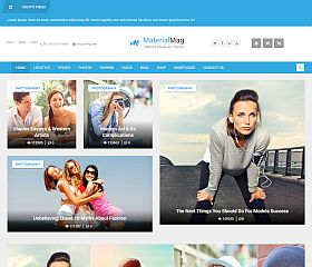 MaterialMag WordPress Theme via ThemeForest