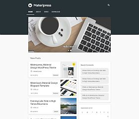 Materipress WordPress Theme via ThemeForest