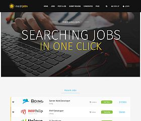 MeshJobs WordPress Theme via ThemeForest
