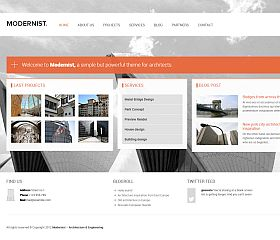 Modernist WordPress Theme via ThemeForest