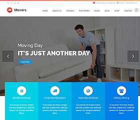 Movers WordPress Theme via ThemeForest
