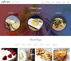 myRecipes WordPress Theme via ThemeForest