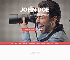 Personal One WordPress Theme via ThemeForest