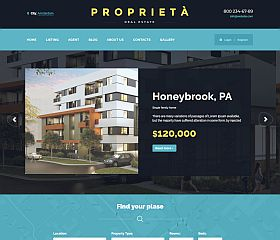 Proprieta Website Template via ThemeForest