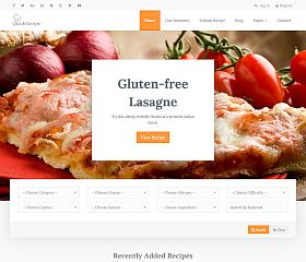 Quick Recipe WordPress Theme via ThemeForest