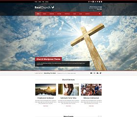 Real Church WordPress Theme via ThemeForest
