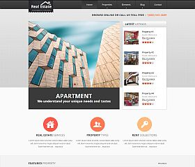Real Estate Website Template via ThemeForest