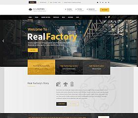 Real Factory WordPress Theme via ThemeForest