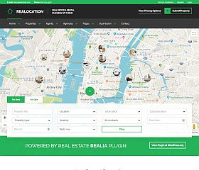 Realocation WordPress Theme via ThemeForest